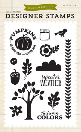 """Штампы 4""""*6"""" Sweater Weather - The Story of Fall Echo Park"""