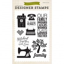 Штампы Family Dreams Stamp Set Echo Park