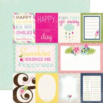 Бумага 30х30см Splendid Sunshine - Journaling Cards