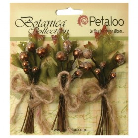 Цветы Botanica Collection Petaloo - Sugared Berry Clusters Brown