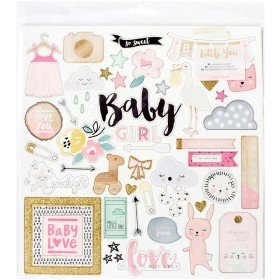 Чипборд Little You Girl Crate Paper