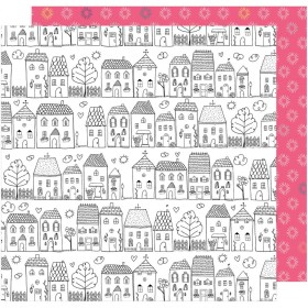 Бумага 30х30 см Dear Lizzy Lovely Day American Crafts - One Fine Day (Coloring Page)