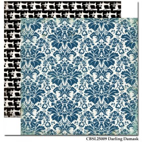 "Бумага 30х30см Darling Damask ""Sew Lovely"" Carta Bella"