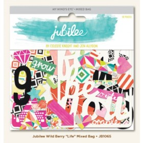 "Высечки Jubilee Wild Berry ""Life"" My Mind's Eye"