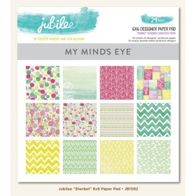 Набор бумаги 15*15 см Sherbet Jubilee My Mind's Eye
