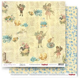Бумага 30х30 см Forget-me-not Spring Holiday Scrapberry's