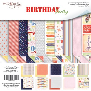 Бумага 30х30 см Birthday Party ScrapMir