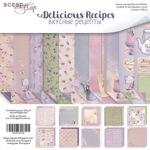 Бумага 20х20 см Delicious Recipes ScrapMir