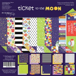 Бумага 20х20 см Ticket to the Moon ScrapMir